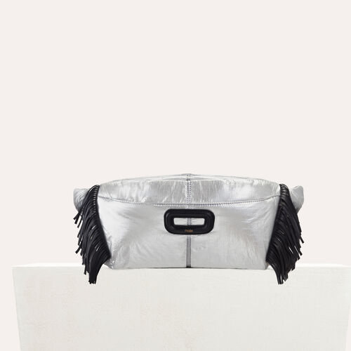 Silver fanny pack with fringe : Other M color Silver