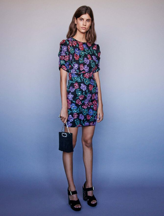 Sequin embroidered dress - remise - MAJE