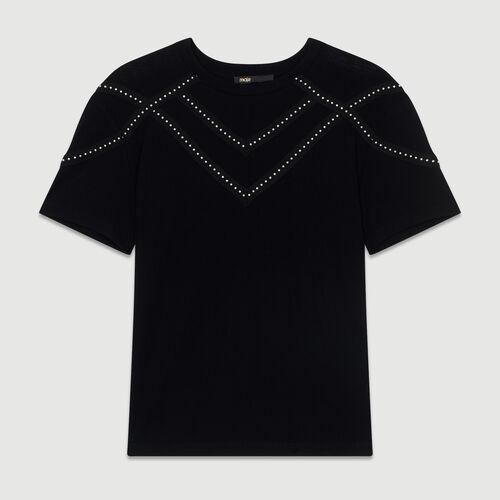 Tee-shirt loose avec studs : Tout voir couleur BLACK