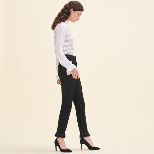 Jean droit à franges - Jeans - MAJE