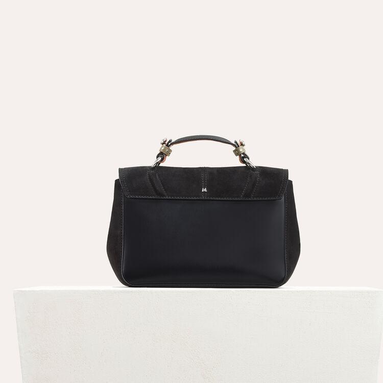 Sac mini-cartable en daim bicolore : Journées Privilèges couleur BLACK