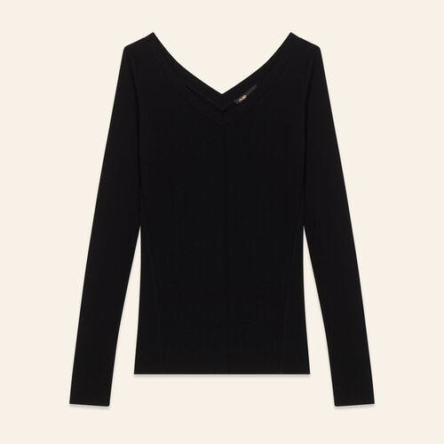 Jersey T-shirt : Sweaters & Cardigans color Black 210