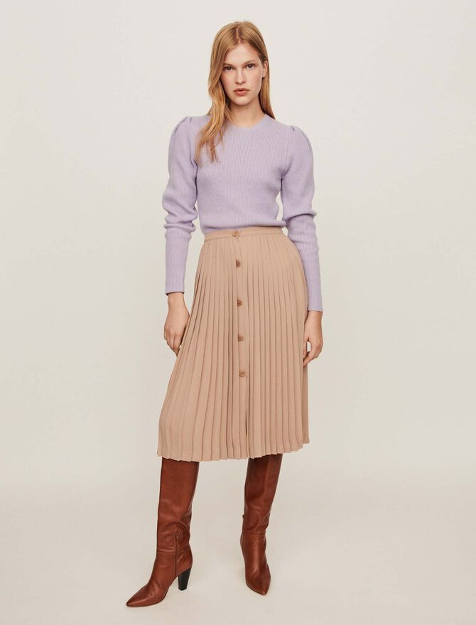 Pleated skirt with buttons - jupes - MAJE