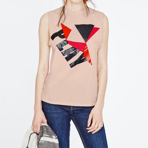 Tee-Shirt imprimé : T-shirts couleur Rose