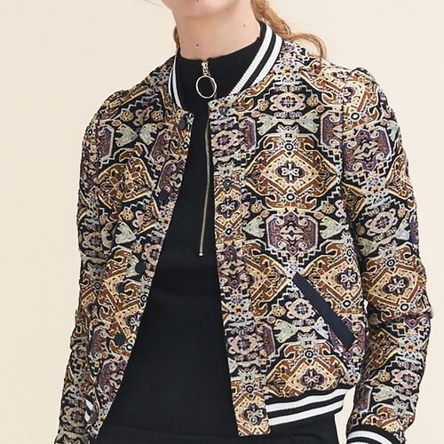 Jacquard jacket : Coats & Jackets color Jacquard