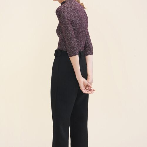 Pull ajusté en maille Lurex : Pulls & Cardigans couleur BORDEAUX