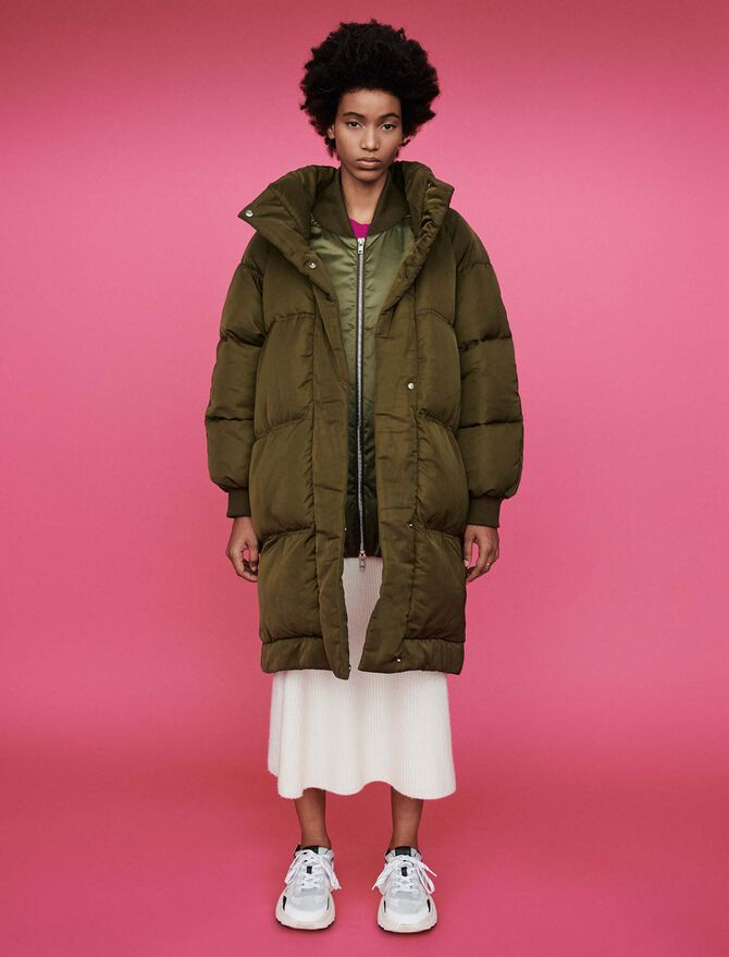 Quilted puffer with stand-up collar - Jackets - MAJE