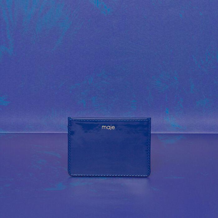 Porte-carte en cuir : Gift with purchase couleur Bleu