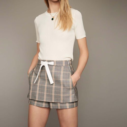 Checked shorts - Pre-collection - MAJE