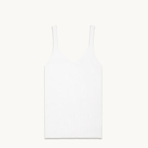 Ribbed knit vest top - null - MAJE