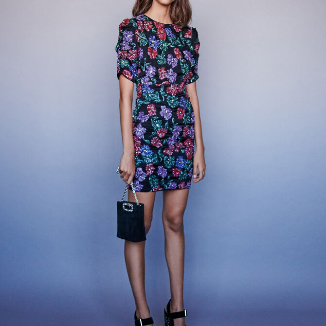 Sequin embroidered dress - See all - MAJE