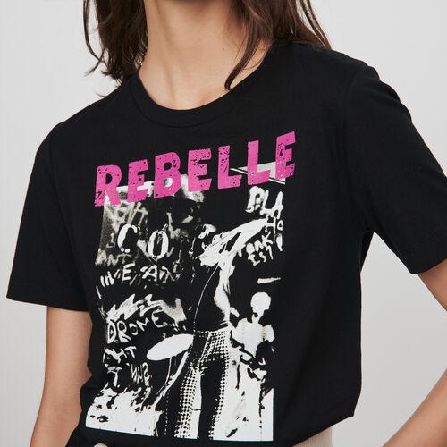 Tee-shirt sérigraphié : Collection hiver couleur Noir