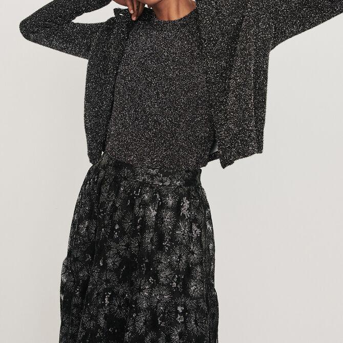 Cropped Lurex cardigan - See all - MAJE