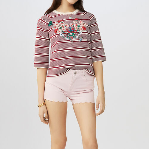 Short denim : Jupes & Shorts couleur Rose