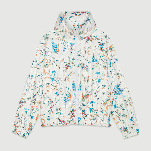 Windbreaker with floral print : Jackets color PRINTED