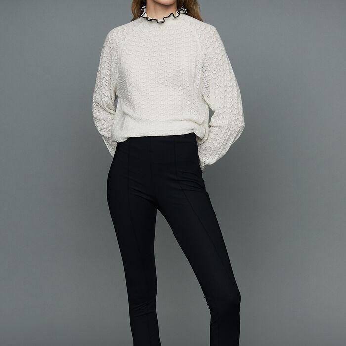 Legging sport en matière technique : Pantalons couleur Black