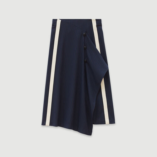 Jupe à rayures tennis : Jupes & Shorts couleur MARINE