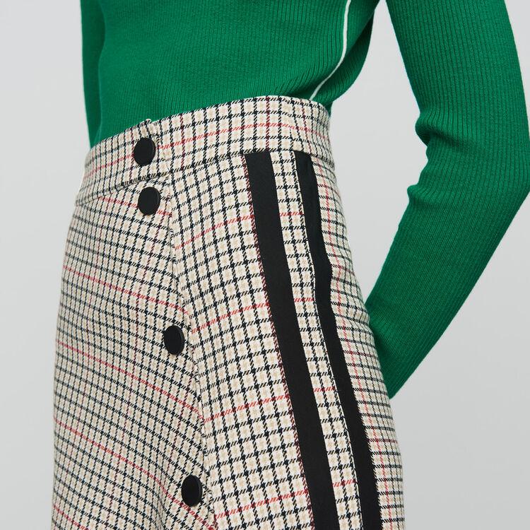 Jupe longue asymétrique à carreaux : Prêt-à-porter couleur CARREAUX