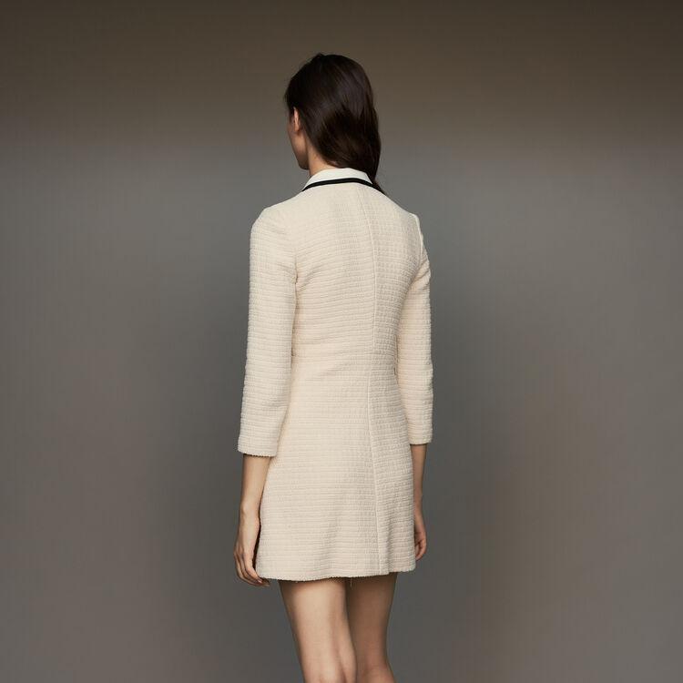 Robe courte effet tweed : Robes couleur ECRU