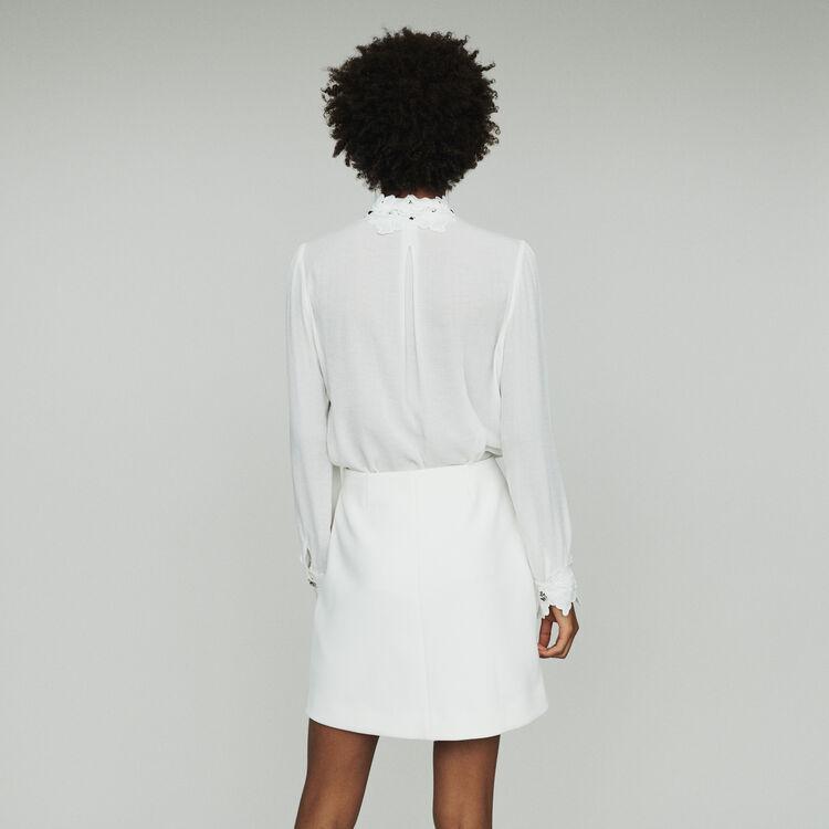 Jupe courte avec bijoux palmiers : Jupes & Shorts couleur ECRU