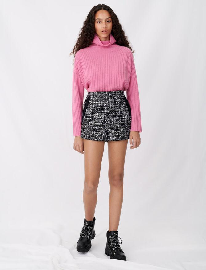 Short façon tweed à galons contrastés - Jupes & Shorts - MAJE