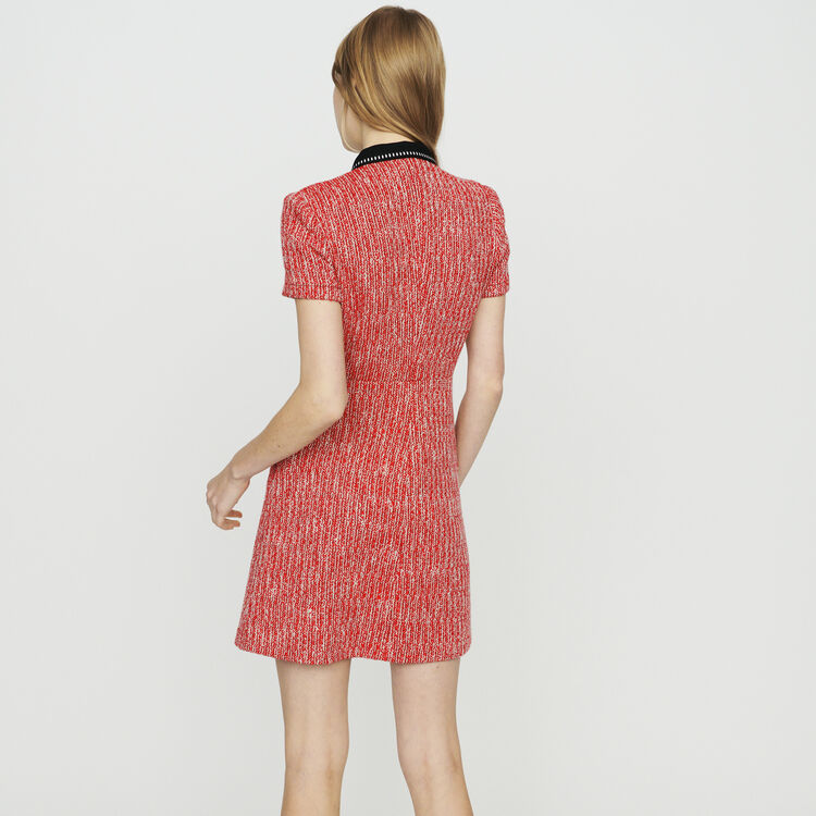 Tweed-style dress : Dresses color Red