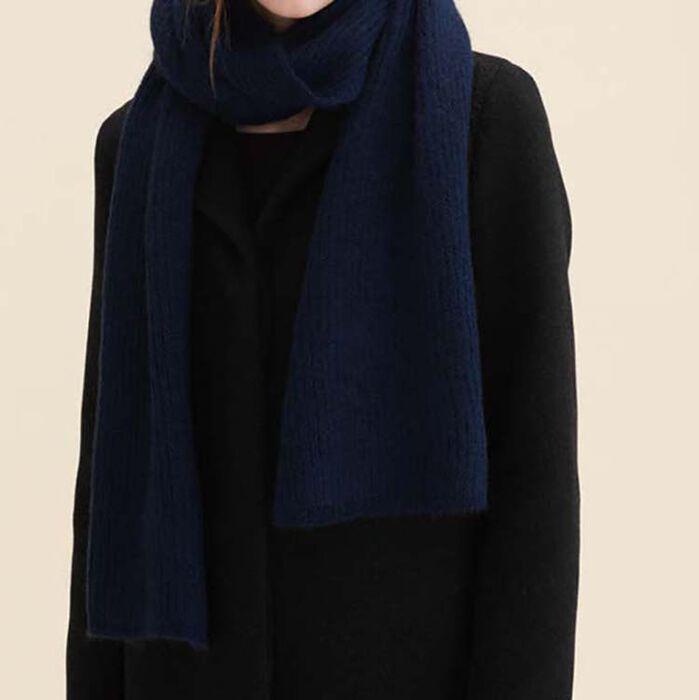 Echarpe en laine mélangée : Accessoires couleur Marine