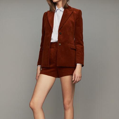 Veste de tailleur en velours côtelé : Vestes couleur Caramel