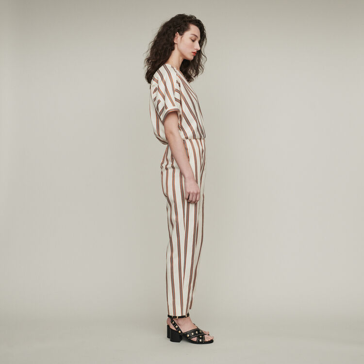 Striped jumpsuit : Trousers & Jeans color Stripe