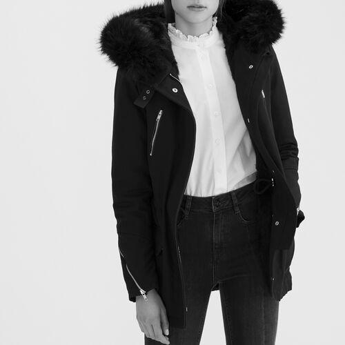 Parka en toile de coton : Manteaux & Blousons couleur Black