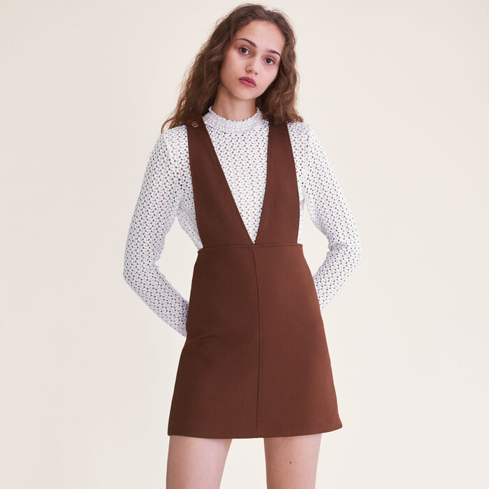 Robe courte à bretelles : Robes couleur Caramel