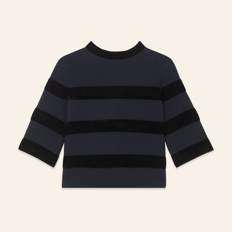 Pull en maille bloquée : Pulls & Cardigans couleur Marine