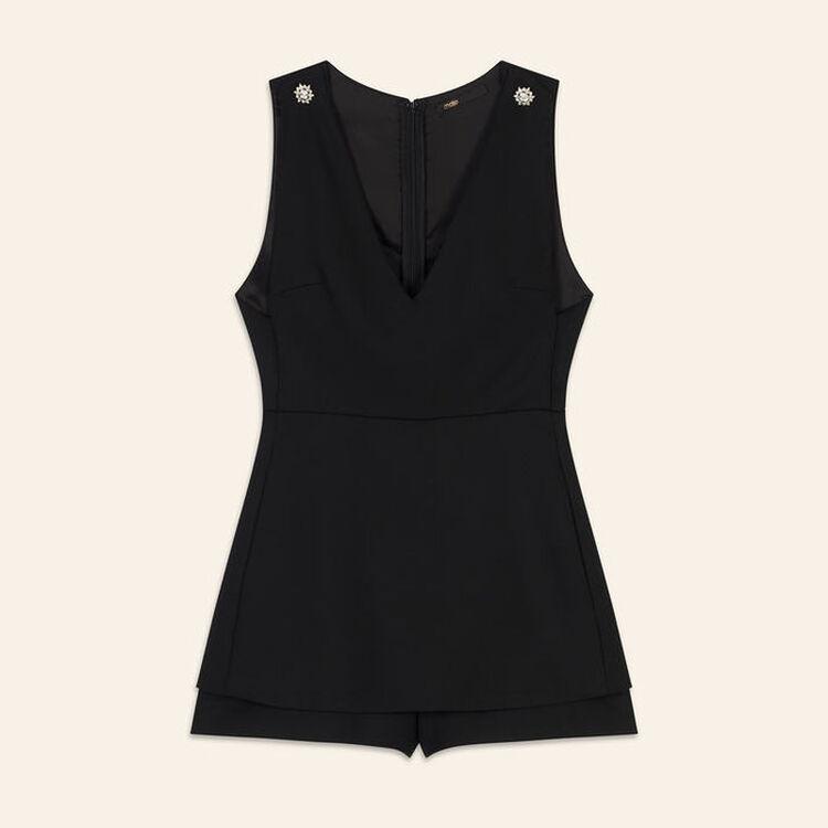 Combi-short effet trompe-l'œil : Combinaisons couleur Black