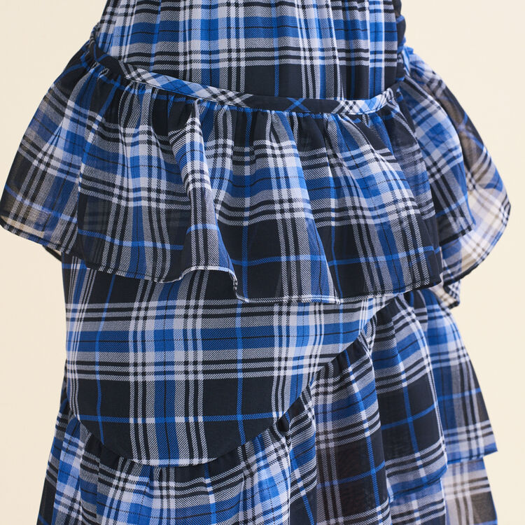 Jupe volantée à carreaux : Jupes & Shorts couleur IMPRIME