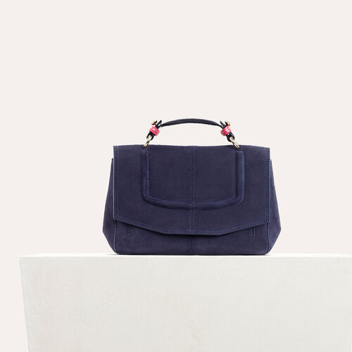 Mini satchel in two-tone suede : Sale Preview color Black 210