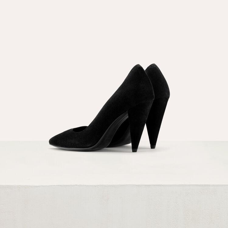 Escarpins en cuir de velours : Escarpins couleur Black