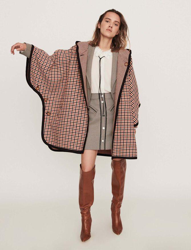 Reversible poncho coat -  - MAJE