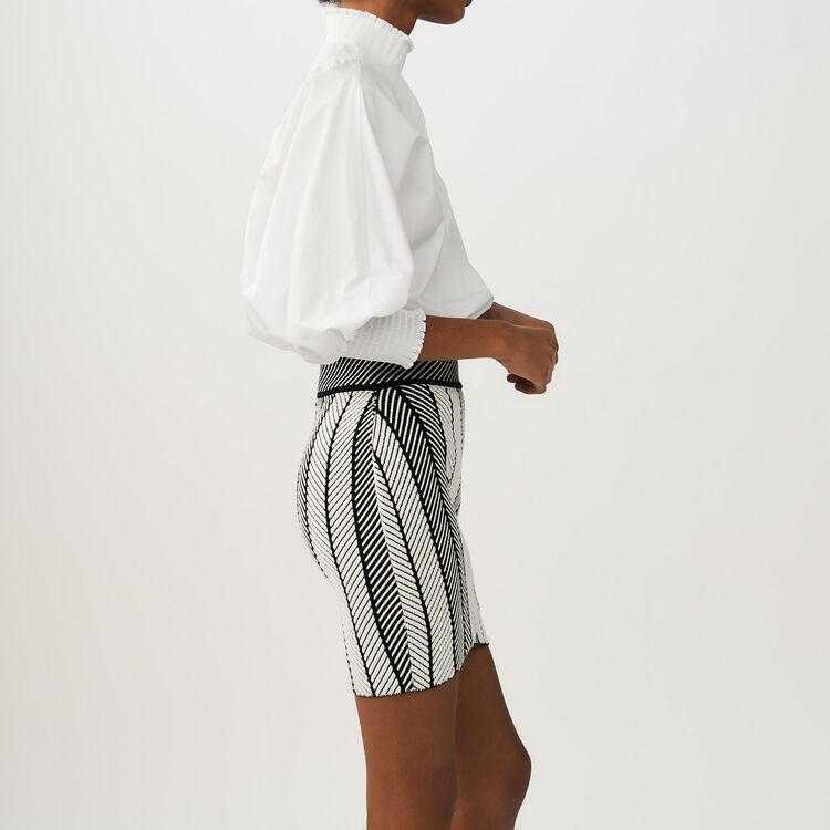 Jupe portefeuille en maille : Jupes & Shorts couleur MULTICO