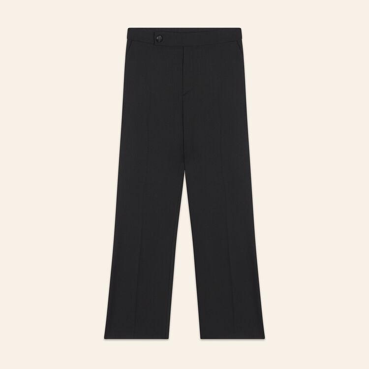 Pantalon de ville en laine : Pantalons & Jeans couleur Black