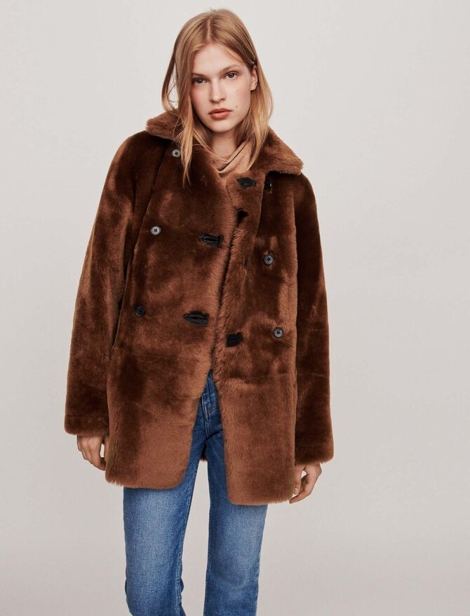 Canadian-style reversible shearling - BE-Jackets & Blazers - MAJE