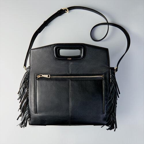Leather M Walk bag : Totes & M Walk color Black