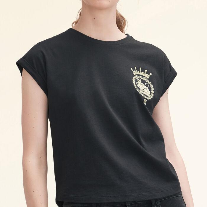 Tee-shirt en coton : T-shirts couleur Black