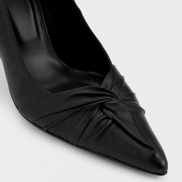 Escarpins drapés en cuir : Office girl couleur Black