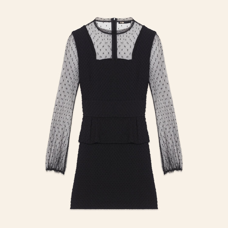 Robe bimatière en plumetis : Robes couleur Black