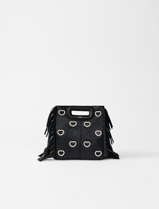 Leather mini M bag, diamanté - M bags - MAJE