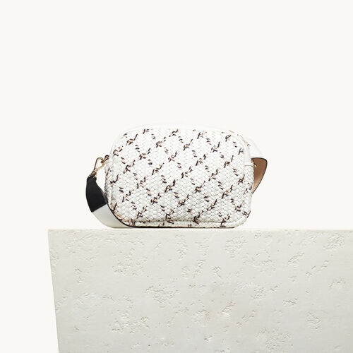 Round bag with braiding : Bags color White