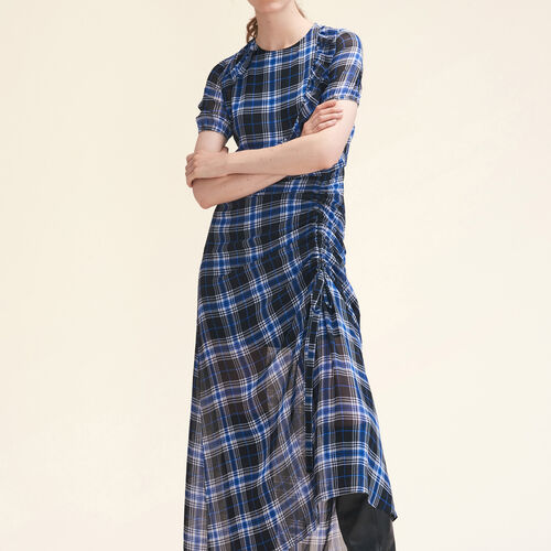 Long checked dress - Dresses - MAJE
