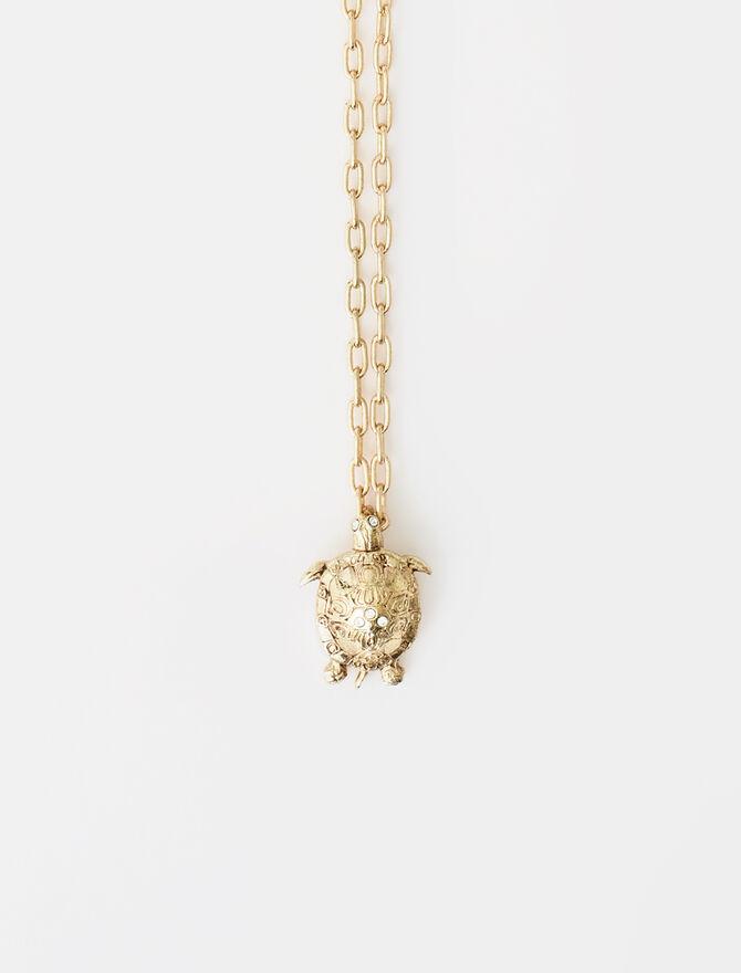 Tortoise animal necklace -  - MAJE