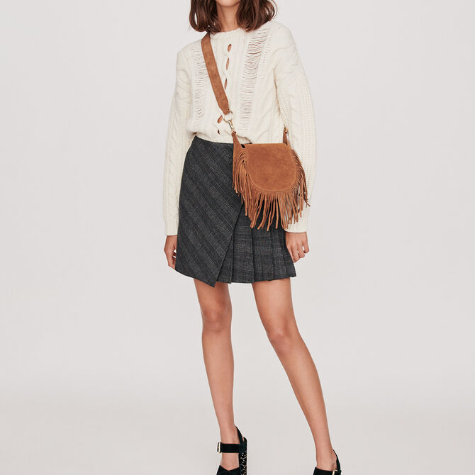 Pleated short skirt with checks - See all - MAJE