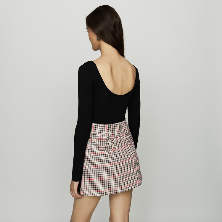 Body à manches longues en jersey : Tops couleur Black
